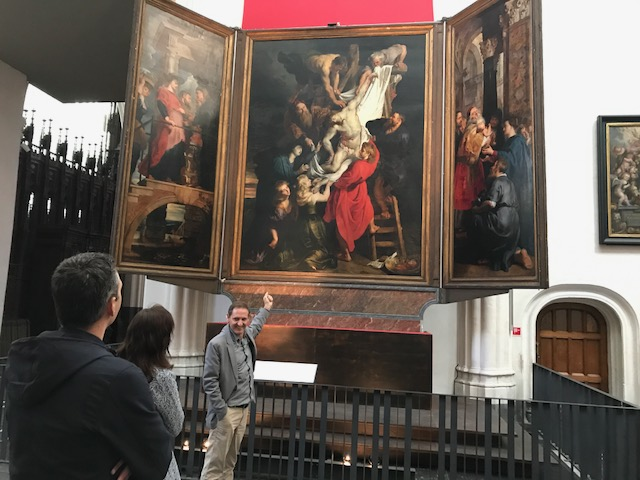 Pieter Paul Rubens kruisafneming descent of the cross in de kathedraal in Antwerpen